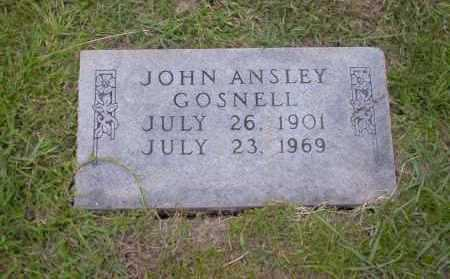 GOSNELL, JOHN ANSLEY - Union County, Arkansas | JOHN ANSLEY GOSNELL - Arkansas Gravestone Photos