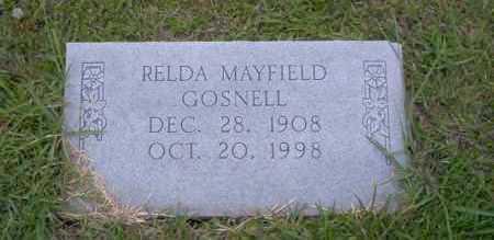 MAYFIELD GOSNELL, RELDA - Union County, Arkansas | RELDA MAYFIELD GOSNELL - Arkansas Gravestone Photos