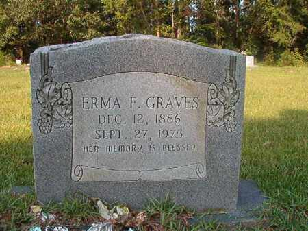 GRAVES, ERMA F - Union County, Arkansas | ERMA F GRAVES - Arkansas Gravestone Photos