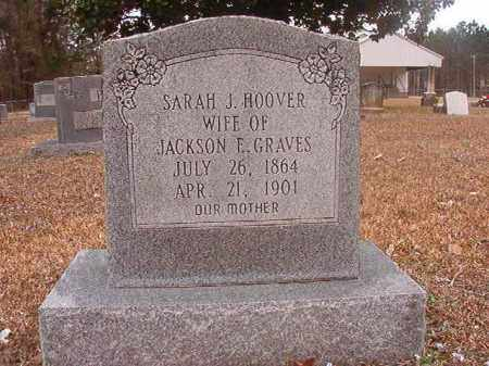 HOOVER GRAVES, SARAH J - Union County, Arkansas | SARAH J HOOVER GRAVES - Arkansas Gravestone Photos