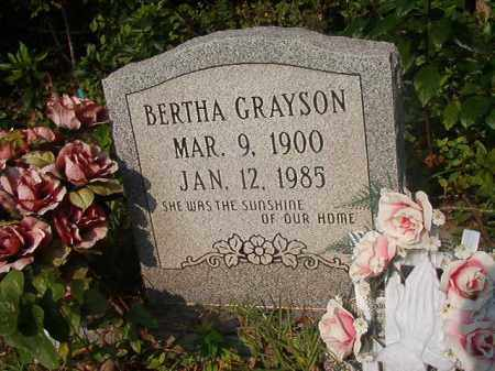 GRAYSON, BERTHA - Union County, Arkansas | BERTHA GRAYSON - Arkansas Gravestone Photos