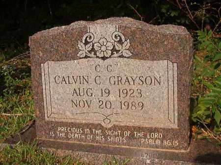 GRAYSON, CALVIN C - Union County, Arkansas | CALVIN C GRAYSON - Arkansas Gravestone Photos
