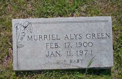 GREEN, MURRIEL ALYS - Union County, Arkansas | MURRIEL ALYS GREEN - Arkansas Gravestone Photos