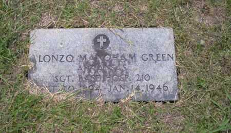 GREEN (VETERAN), LONZO MANGAM - Union County, Arkansas | LONZO MANGAM GREEN (VETERAN) - Arkansas Gravestone Photos