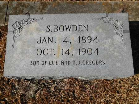 GREGORY, S BOWDEN - Union County, Arkansas | S BOWDEN GREGORY - Arkansas Gravestone Photos