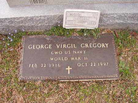 GREGORY (VETERAN WWII), GEORGE VIRGIL - Union County, Arkansas | GEORGE VIRGIL GREGORY (VETERAN WWII) - Arkansas Gravestone Photos