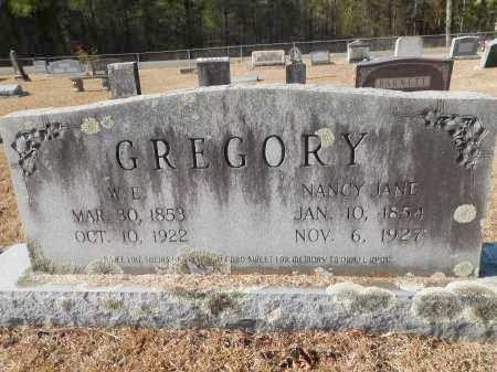 GREGORY, NANCY JANE - Union County, Arkansas | NANCY JANE GREGORY - Arkansas Gravestone Photos