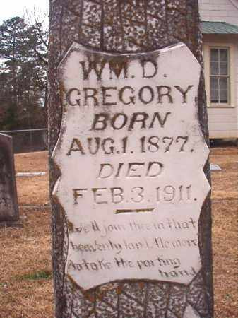 GREGORY, WILLIAM D - Union County, Arkansas | WILLIAM D GREGORY - Arkansas Gravestone Photos