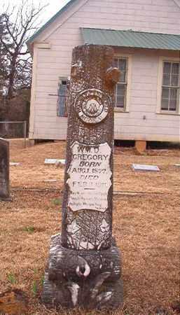 GREGORY, WILLIAM D - Union County, Arkansas   WILLIAM D GREGORY - Arkansas Gravestone Photos