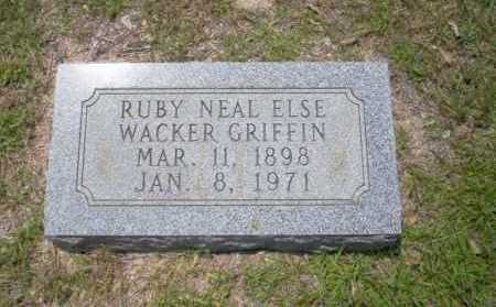 GRIFFIN, RUBY NEAL ELSE - Union County, Arkansas | RUBY NEAL ELSE GRIFFIN - Arkansas Gravestone Photos