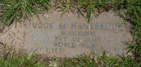 HANSBROUGH (VETERAN WWI), SUGGS M - Union County, Arkansas | SUGGS M HANSBROUGH (VETERAN WWI) - Arkansas Gravestone Photos