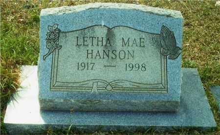HANSON, LETHA - Union County, Arkansas | LETHA HANSON - Arkansas Gravestone Photos