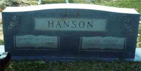 DELOACH HANSON, MYRTLE - Union County, Arkansas | MYRTLE DELOACH HANSON - Arkansas Gravestone Photos