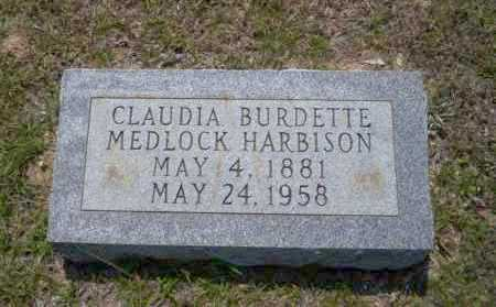 MEDLOCK HARBISON, CLAUDIA BURDETTE - Union County, Arkansas | CLAUDIA BURDETTE MEDLOCK HARBISON - Arkansas Gravestone Photos