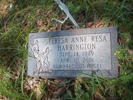 "HARRINGTON, TERESA ANNE ""RESA"" - Union County, Arkansas 