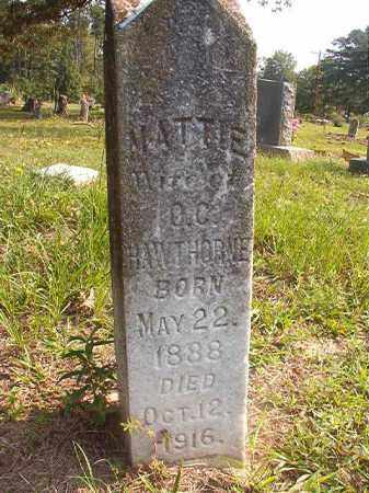 HAWTHORNE, MATTIE - Union County, Arkansas | MATTIE HAWTHORNE - Arkansas Gravestone Photos