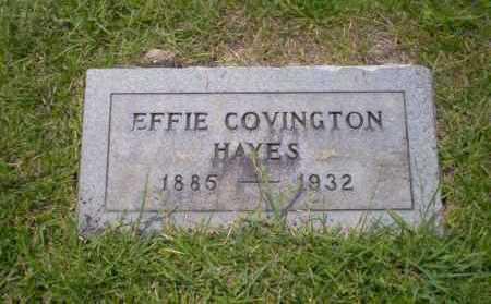 COVINGTON HAYES, EFFIE - Union County, Arkansas | EFFIE COVINGTON HAYES - Arkansas Gravestone Photos