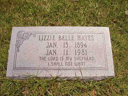 HAYES, LIZZIE BELLE - Union County, Arkansas | LIZZIE BELLE HAYES - Arkansas Gravestone Photos