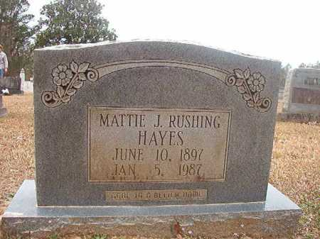 HAYES, MATTIE J - Union County, Arkansas | MATTIE J HAYES - Arkansas Gravestone Photos