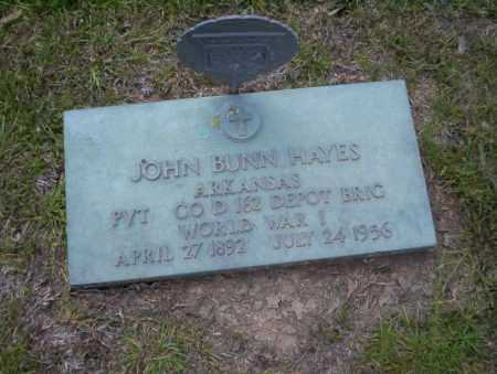 HAYES (VETERAN WWI), JOHN BUNN - Union County, Arkansas | JOHN BUNN HAYES (VETERAN WWI) - Arkansas Gravestone Photos