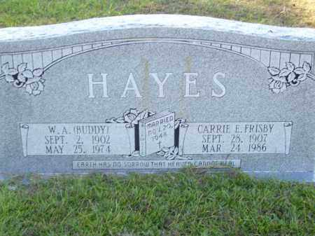 FRISBY HAYES, CARRIE E - Union County, Arkansas | CARRIE E FRISBY HAYES - Arkansas Gravestone Photos
