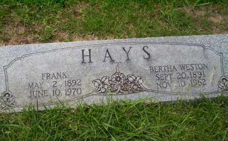 WESTON HAYS, BERTHA - Union County, Arkansas | BERTHA WESTON HAYS - Arkansas Gravestone Photos