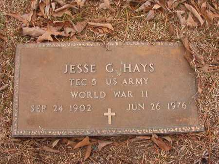 HAYS (VETERAN WWII), JESSE G - Union County, Arkansas | JESSE G HAYS (VETERAN WWII) - Arkansas Gravestone Photos