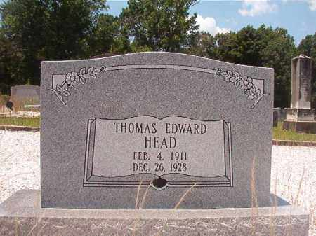 HEAD, THOMAS EDWARD - Union County, Arkansas | THOMAS EDWARD HEAD - Arkansas Gravestone Photos