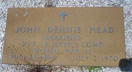 HEAD (VETERAN WWII), JOHN DENNIS - Union County, Arkansas | JOHN DENNIS HEAD (VETERAN WWII) - Arkansas Gravestone Photos
