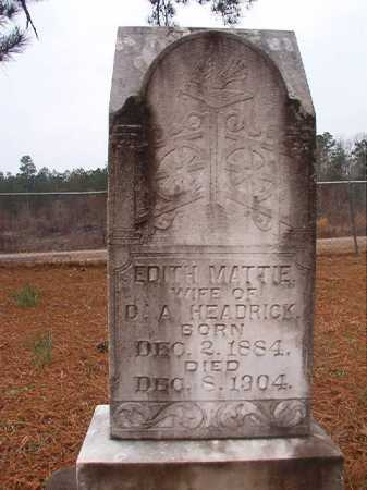 HEADRICK, EDITH MATTIE - Union County, Arkansas | EDITH MATTIE HEADRICK - Arkansas Gravestone Photos