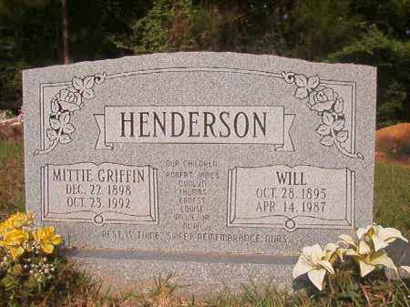 GRIFFIN HENDERSON, MITTIE - Union County, Arkansas | MITTIE GRIFFIN HENDERSON - Arkansas Gravestone Photos