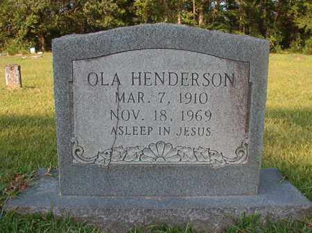 HENDERSON, OLA - Union County, Arkansas | OLA HENDERSON - Arkansas Gravestone Photos