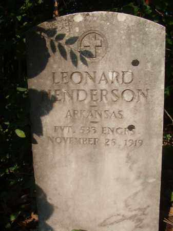 HENDERSON (VETERAN), LEONARD - Union County, Arkansas | LEONARD HENDERSON (VETERAN) - Arkansas Gravestone Photos