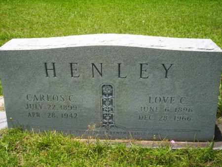 HENLEY, LOVE C - Union County, Arkansas | LOVE C HENLEY - Arkansas Gravestone Photos