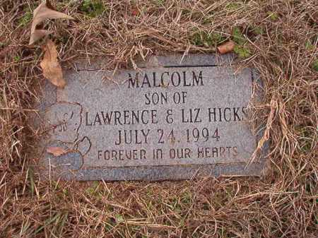 HICKS, MALCOLM - Union County, Arkansas | MALCOLM HICKS - Arkansas Gravestone Photos