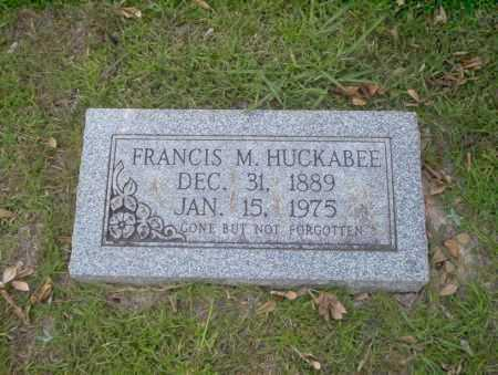 HUCKABEE, FRANCIS M - Union County, Arkansas | FRANCIS M HUCKABEE - Arkansas Gravestone Photos