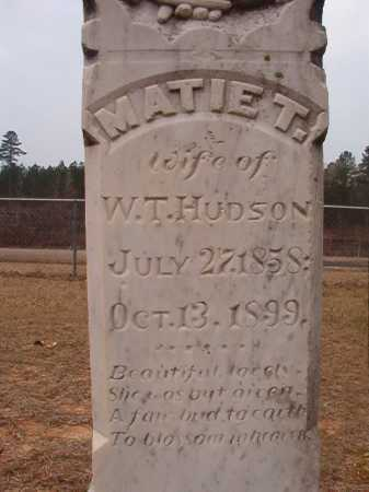 HUDSON, MATIE T - Union County, Arkansas | MATIE T HUDSON - Arkansas Gravestone Photos