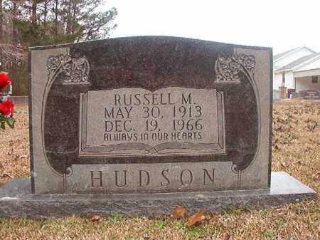 HUDSON, RUSSELL M - Union County, Arkansas | RUSSELL M HUDSON - Arkansas Gravestone Photos
