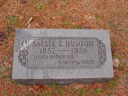 HUDSON, SALLIE E - Union County, Arkansas | SALLIE E HUDSON - Arkansas Gravestone Photos
