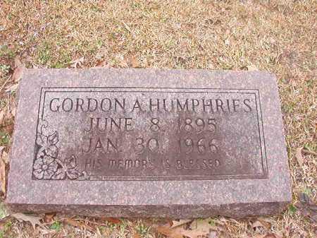 HUMPHRIES, GORDON A - Union County, Arkansas | GORDON A HUMPHRIES - Arkansas Gravestone Photos
