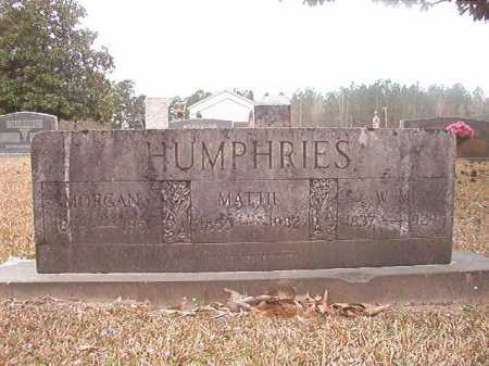 HUMPHRIES, MORGAN - Union County, Arkansas | MORGAN HUMPHRIES - Arkansas Gravestone Photos