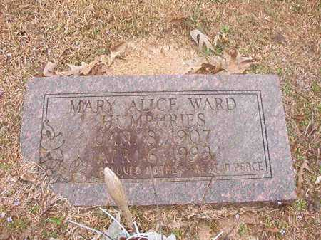 WARD HUMPHRIES, MARY ALICE - Union County, Arkansas | MARY ALICE WARD HUMPHRIES - Arkansas Gravestone Photos