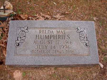 HUMPHRIES, RELDA MAE - Union County, Arkansas | RELDA MAE HUMPHRIES - Arkansas Gravestone Photos