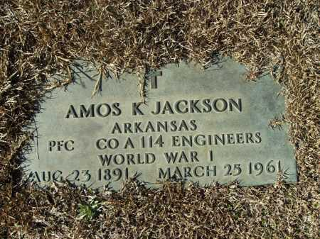JACKSON (VETERAN WWI), AMOS KENDLE - Union County, Arkansas | AMOS KENDLE JACKSON (VETERAN WWI) - Arkansas Gravestone Photos