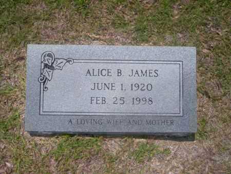 JAMES, ALICE B - Union County, Arkansas   ALICE B JAMES - Arkansas Gravestone Photos