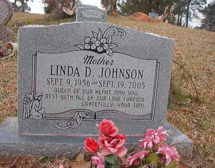 JOHNSON, LINDA D - Union County, Arkansas | LINDA D JOHNSON - Arkansas Gravestone Photos