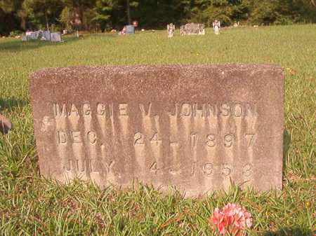 JOHNSON, MAGGIE V - Union County, Arkansas | MAGGIE V JOHNSON - Arkansas Gravestone Photos