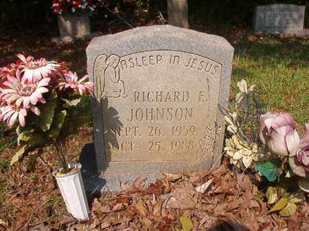 JOHNSON, RICHARD E - Union County, Arkansas | RICHARD E JOHNSON - Arkansas Gravestone Photos