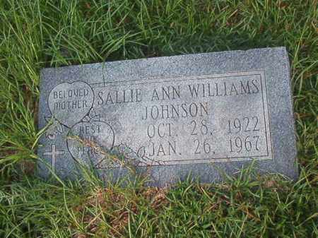 WILLIAMS JOHNSON, SALLIE ANN - Union County, Arkansas | SALLIE ANN WILLIAMS JOHNSON - Arkansas Gravestone Photos