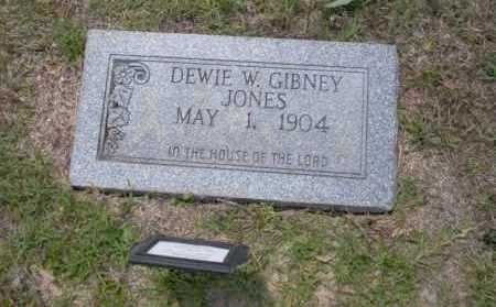 GIBNEY JONES, DEWIE W - Union County, Arkansas | DEWIE W GIBNEY JONES - Arkansas Gravestone Photos